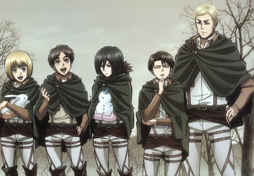 Production I.G, Shingeki no Kyojin, Erwin Smith, Mikasa Ackerman, Levi Ackerman
