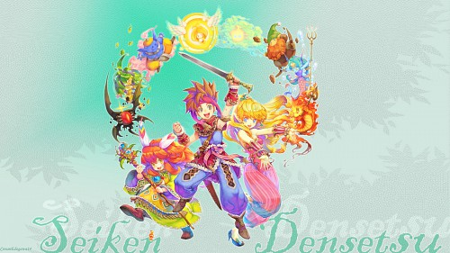 Square Enix, Secret of Mana, Can Fes, Popoie, Randy Wallpaper