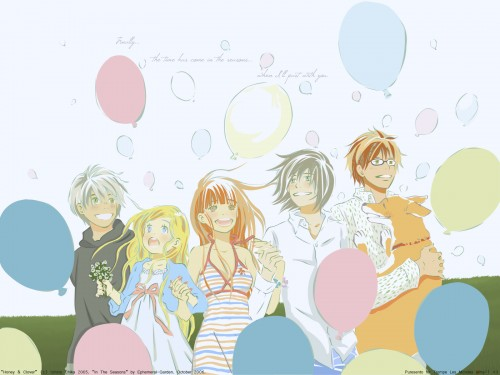 Chika Umino, J.C. Staff, Honey and Clover, Yuuta Takemoto, Hagumi Hanamoto Wallpaper