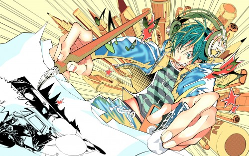 Takeshi Obata, J.C. Staff, Bakuman, Moritaka Mashiro, Vector Art Wallpaper