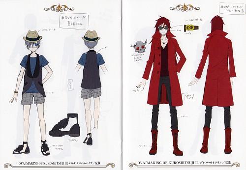 Yana Toboso, Kuroshitsuji, Grell Sutcliff, Ciel Phantomhive, Character Sheet