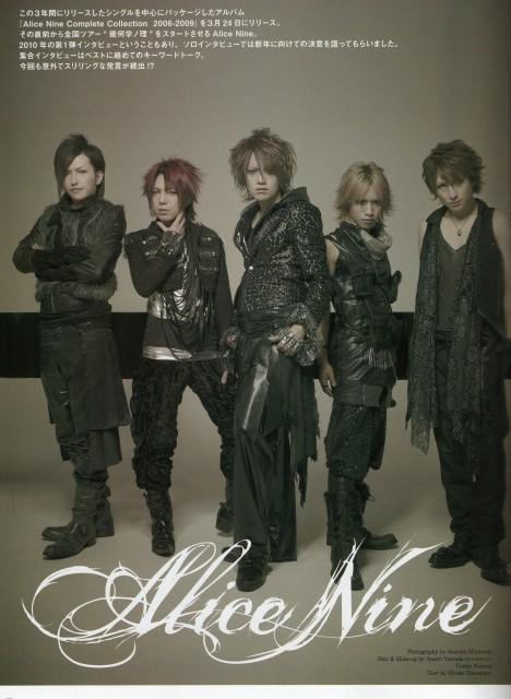 Shou, Saga (J-Pop Idol), Alice Nine, Tora, Nao