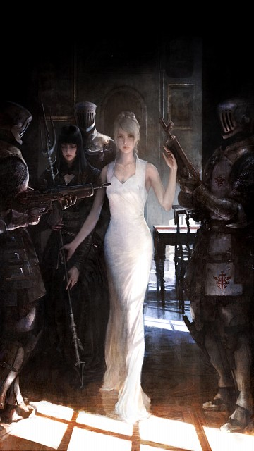 Square Enix, Final Fantasy XV, Gentiana, Lunafreya Nox Fleuret, Official Digital Art