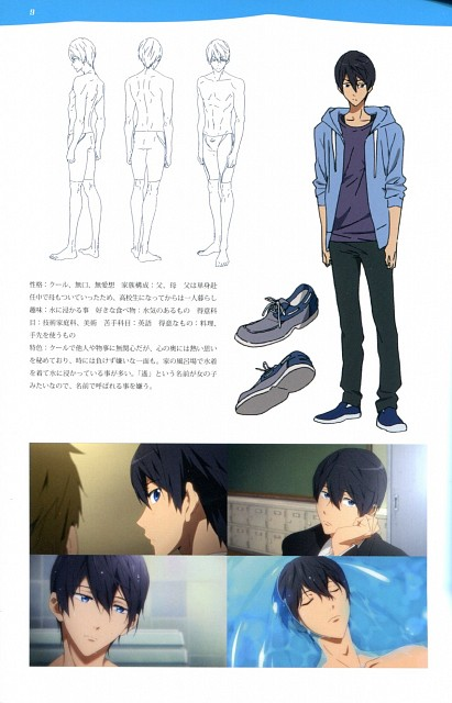 Kyoto Animation, Free!, Free! TV Animation Guide Book, Haruka Nanase (Free!), Character Sheet