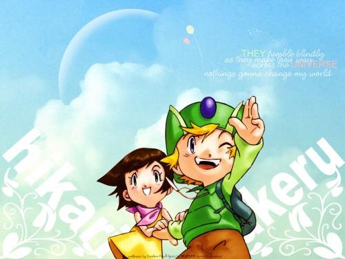 Yuen Wong Yu, Toei Animation, Digimon Adventure, Hikari Yagami, Takeru Takaishi Wallpaper