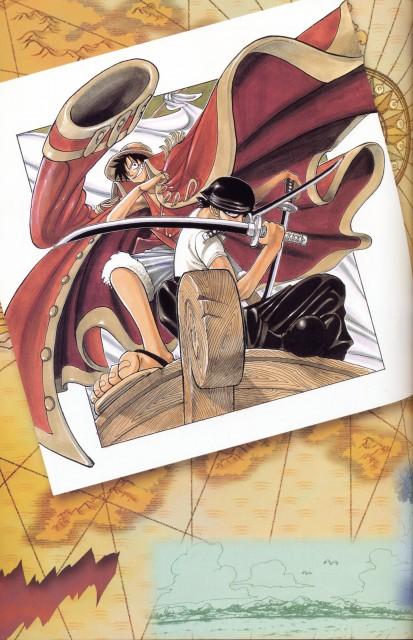 Eiichiro Oda, Toei Animation, One Piece, Color Walk 1, Monkey D. Luffy
