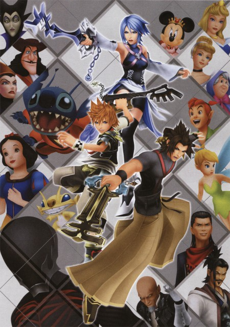 Square Enix, Kingdom Hearts, Maleficent, Minnie Mouse, Aqua (Kingdom Hearts)