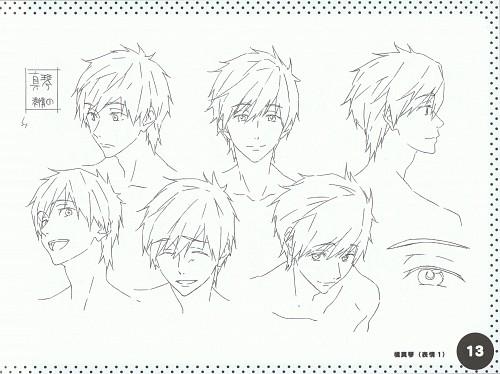 Kyoto Animation, Free!, Makoto Tachibana, Character Sheet