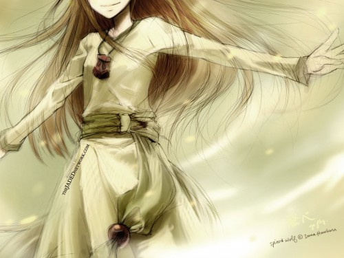 Spice and Wolf, Horo Wallpaper