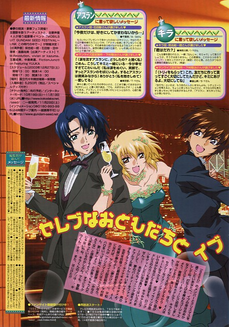 Hisashi Hirai, Sunrise (Studio), Mobile Suit Gundam SEED, Cagalli Yula Athha, Athrun Zala