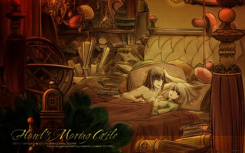 My Neighbor Totoro, Howl's Moving Castle, Totoro, Sophie Hatter, Howl Jenkins Wallpaper