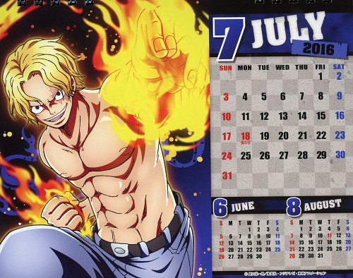 Eiichiro Oda, Toei Animation, One Piece, One Piece Body Calendar 2016, Sabo