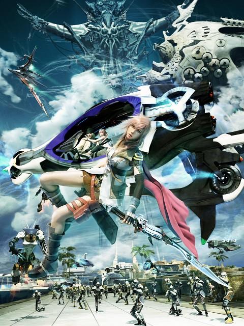 Square Enix, Final Fantasy XIII, Serah Farron, Lightning (FF XIII), Snow Villiers