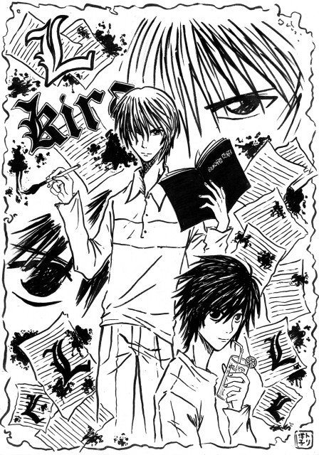 Takeshi Obata, Madhouse, Death Note, Light Yagami, L