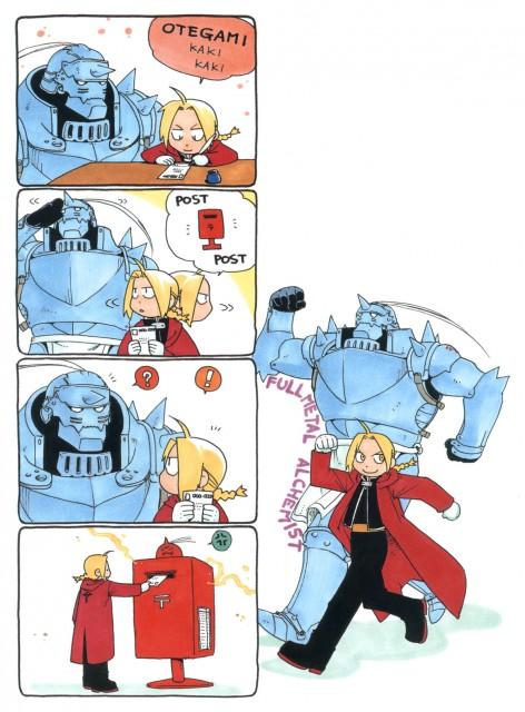Hiromu Arakawa, Fullmetal Alchemist, Alphonse Elric, Edward Elric, Manga Panels