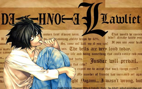 Takeshi Obata, Madhouse, Death Note, L Wallpaper