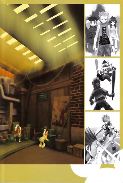 Shiro Amano, Art Works Kingdom Hearts, Kingdom Hearts, Axel, Olette