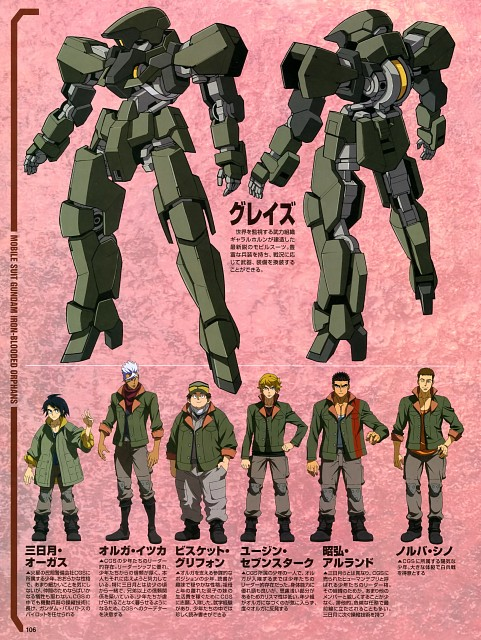 Sunrise (Studio), Mobile Suit Gundam: Iron-Blooded Orphans, Character Sheet, Magazine Page, Newtype Magazine
