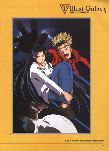 Yasuhiro Nightow, Madhouse, Trigun, The Collected Paintings Mini Book of Trigun Maximum, Knives (Trigun)