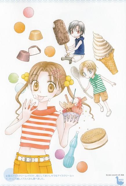 Tachibana Higuchi, Gakuen Alice, Gakuen Alice Illustration Fan Book, Natsume Hyuuga, Mikan Sakura