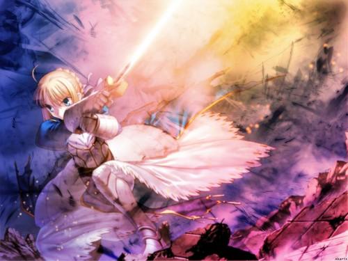 TYPE-MOON, Fate/Hollow ataraxia, Saber Wallpaper
