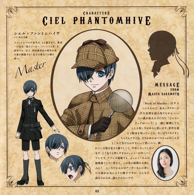 Yana Toboso, A-1 Pictures, Kuroshitsuji, Ciel Phantomhive, Maaya Sakamoto