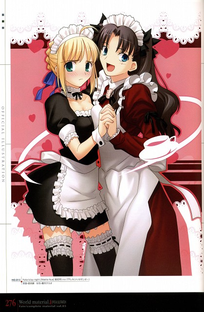 TYPE-MOON, Fate/complete material III World material., Fate/stay night, Rin Tohsaka, Saber