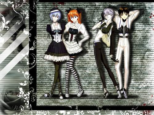 Neon Genesis Evangelion, Shinji Ikari, Rei Ayanami, Asuka Langley Soryu, Kaworu Nagisa Wallpaper