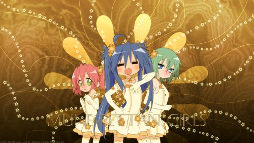 Lucky Star, Yutaka Kobayakawa, Minami Iwasaki, Konata Izumi Wallpaper