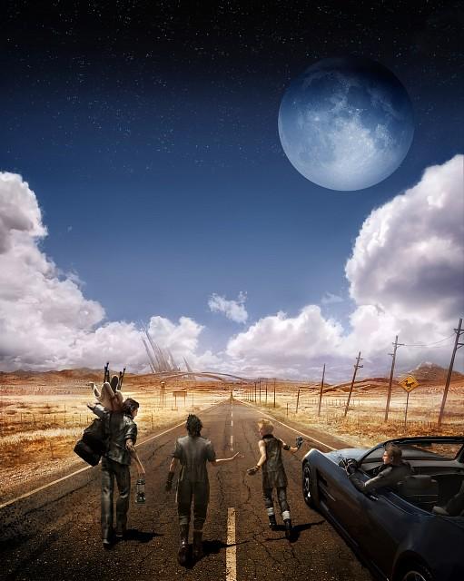 Square Enix, Final Fantasy XV, Gladiolus Amicitia, Ignis Stupeo Scientia, Prompto Argentum