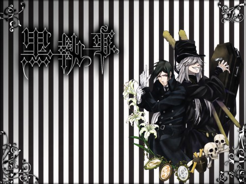 Yana Toboso, A-1 Pictures, Kuroshitsuji, Sebastian Michaelis, Undertaker Wallpaper