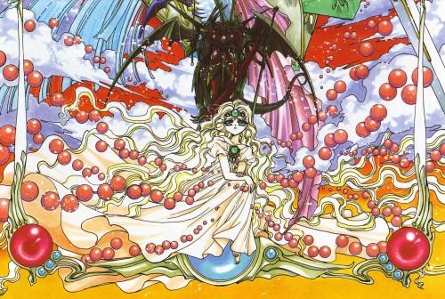 CLAMP, Magic Knight Rayearth, Magic Knight Rayearth Illustrations Collection, Emeraude, Rayearth (Character)