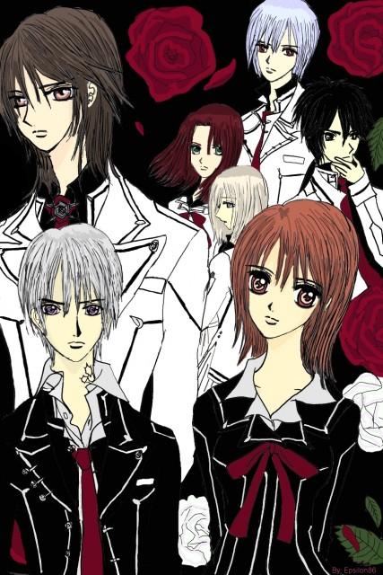 Vampire Knight, Zero Kiryuu, Ichiru Kiryuu, Yuuki Cross, Maria Kurenai