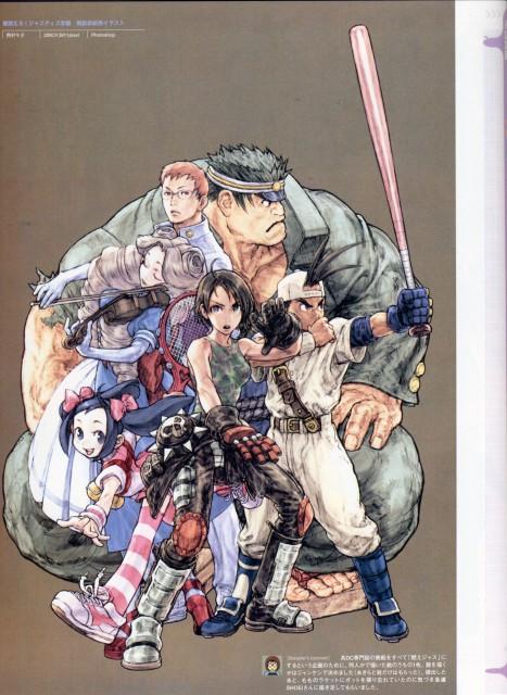 Capcom, Rival Schools, Momo Karuizawa, Gan Sekidou, Akira Kazama