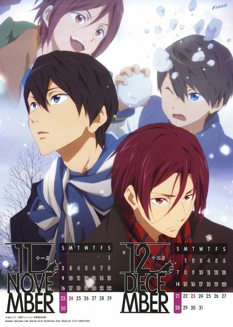 Shouko Ikeda, Kyoto Animation, Free!, Free! 2014 Calendar, Haruka Nanase (Free!)
