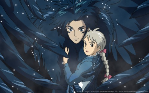 Studio Ghibli, Howl's Moving Castle, Howl Jenkins, Sophie Hatter Wallpaper