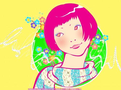 Kunie Kanbara, Vector Art Wallpaper