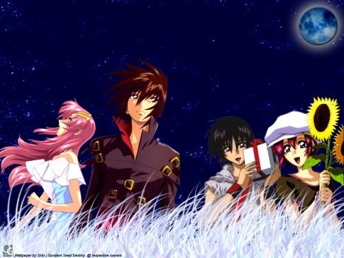 Sunrise (Studio), Mobile Suit Gundam SEED Destiny, Lunamaria Hawke, Lacus Clyne, Kira Yamato Wallpaper