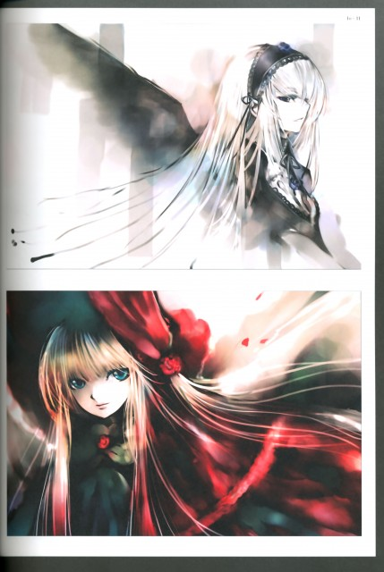 KEI, Rozen Maiden, Lost Rozen Maiden Illustrations, Suigintou, Shinku