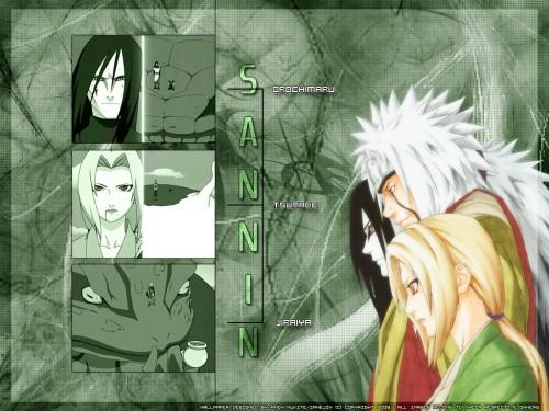 Masashi Kishimoto, Studio Pierrot, Naruto, Orochimaru, Tsunade Wallpaper