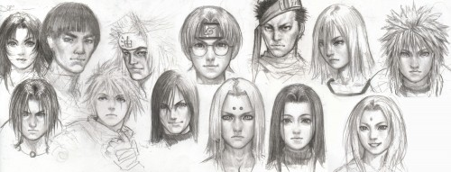 Naruto, Kabuto Yakushi, Tsunade, Momochi Zabuza, Orochimaru