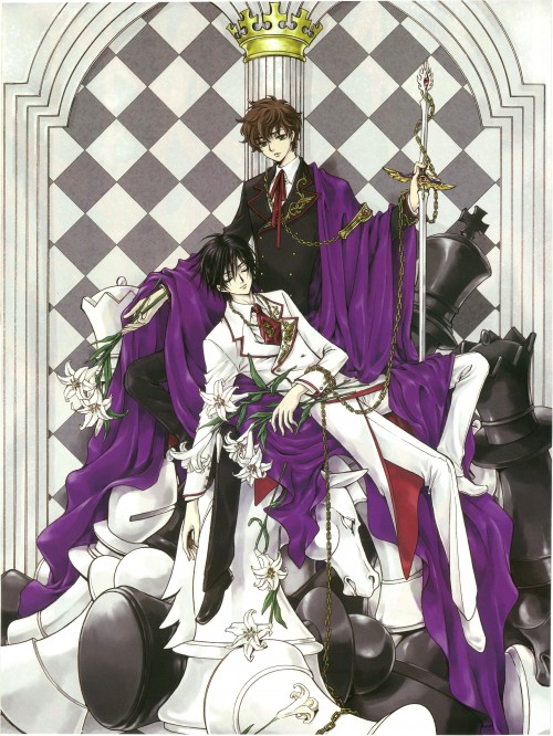 CLAMP, Lelouch of the Rebellion, Lelouch Lamperouge, Suzaku Kururugi, Pin-up Poster
