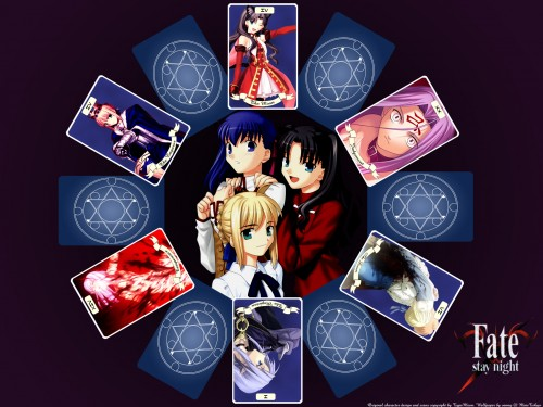 TYPE-MOON, Fate/stay night, Shiro Emiya, Caster (Fate/stay night), Rider (Fate/stay night) Wallpaper