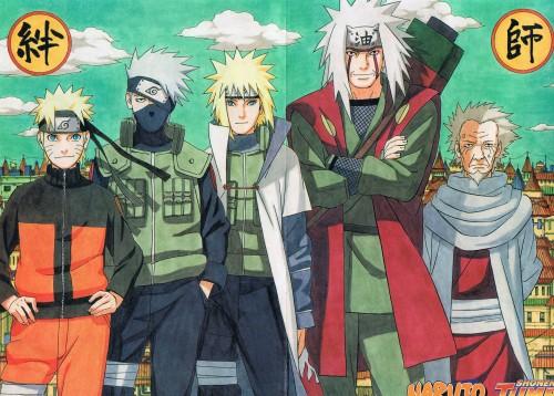 Masashi Kishimoto, Naruto, Hiruzen Sarutobi, Naruto Uzumaki, Kakashi Hatake