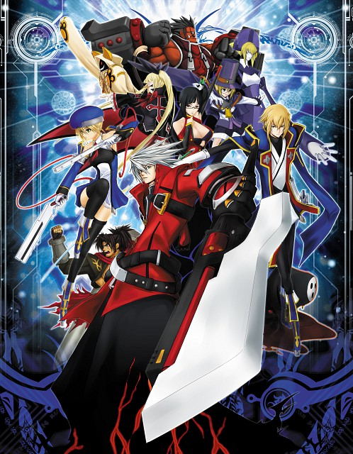 Blazblue, Carl Clover, Rachel Alucard, Shishigami Bang, Ragna the Bloodedge