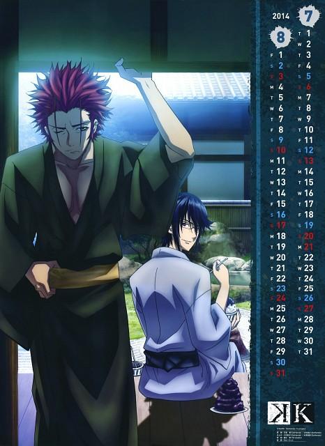 GoHands, K Project, K 2014 Calendar, Reisi Munakata, Mikoto Suoh