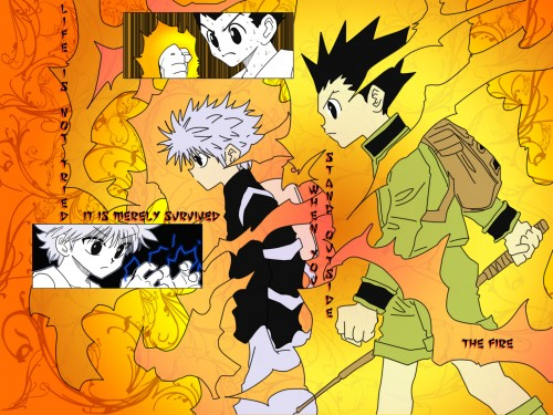 Yoshihiro Togashi, Hunter x Hunter, Gon Freecss, Killua Zaoldyeck Wallpaper