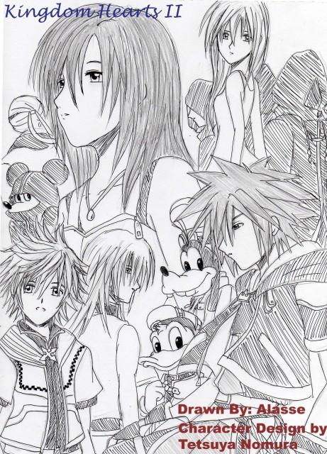 Square Enix, Kingdom Hearts, Goofy, DiZ, Donald Duck