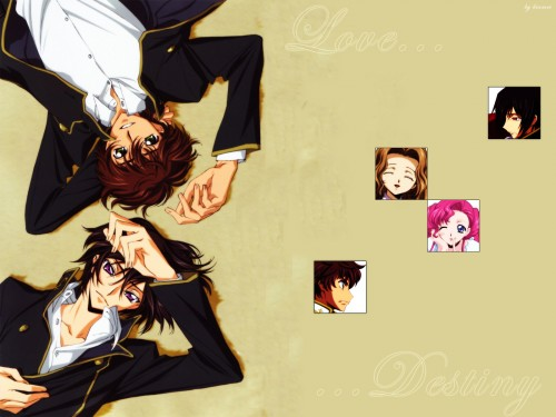 Lelouch of the Rebellion, Lelouch Lamperouge, Nunnally Lamperouge, Euphemia Li Britannia, Suzaku Kururugi Wallpaper