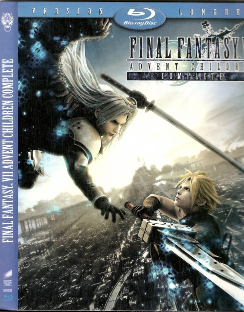 Square Enix, Final Fantasy VII: Advent Children, Sephiroth, Cloud Strife, DVD Cover